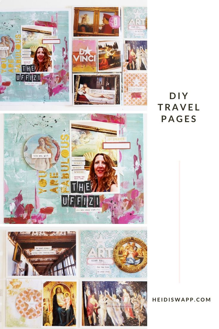 This fun pocket page by media team member, Kim Jeffress, is the perfect way to document your own vacation in a DIY travel album!
