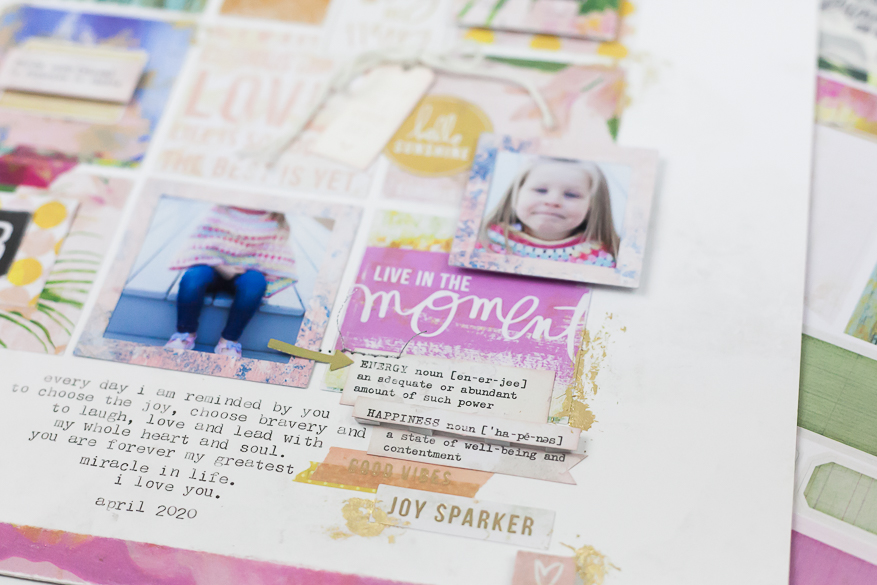 art walk scrapbook page I @lindsaybateman for @heidiswapp