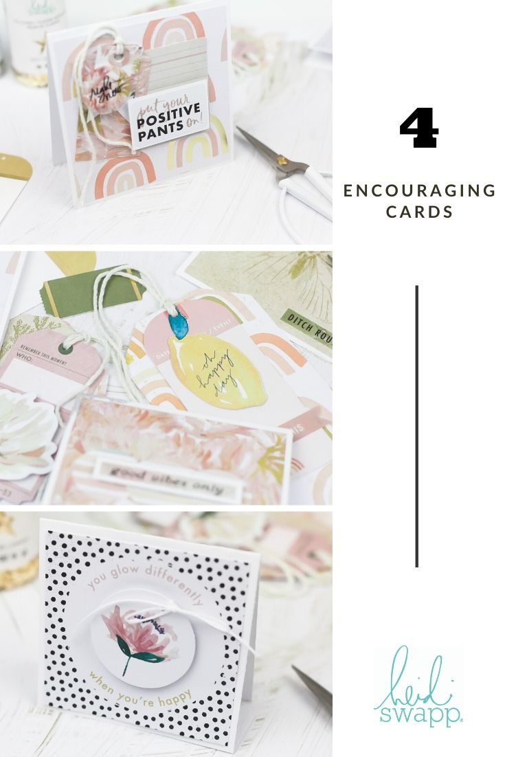 Encouraging Cards by Lindsay Bateman for @heidiswapp