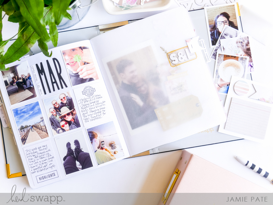 Heidi Swapp Storyline Chapters | One Page. Two Stories