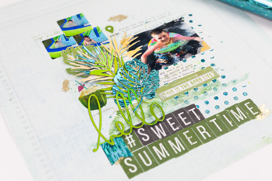 die cuts with minc project pad I @lindsaybateman for @heidiswapp