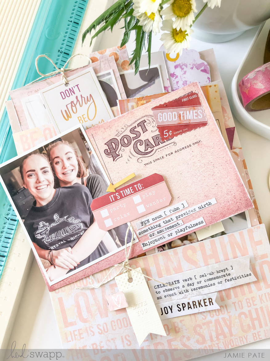 Heidi Swapp Art Walk Pocket Layout