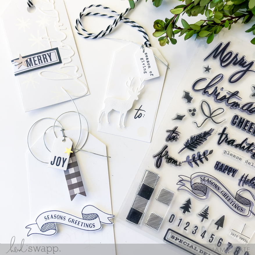 How To Make Beautiful Winter Wonderland Tags by Jamie Pate