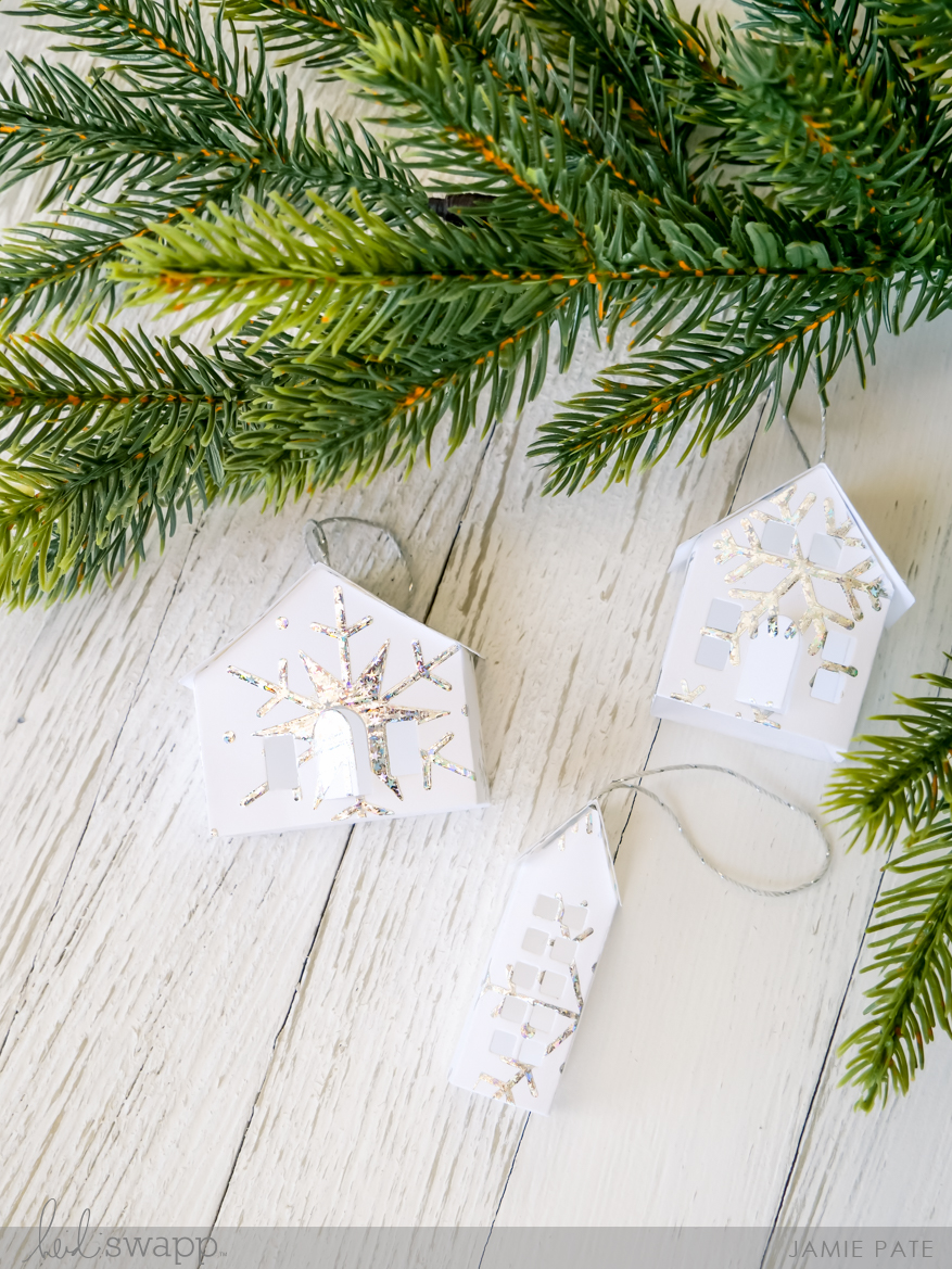 DIY Minc House Ornamnets with Heidi Swapp Minc Foil