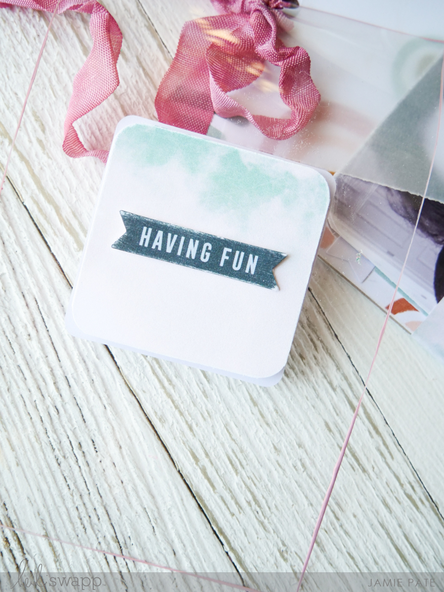 Heidi Swapp Care Free Collection | Mini Card Tag by Jamie Pateqq