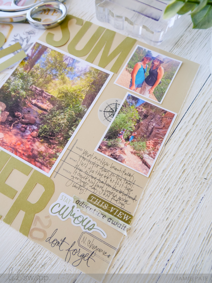 Heidi Swapp Storyline Chapters Summer Layout by Jamie Pate