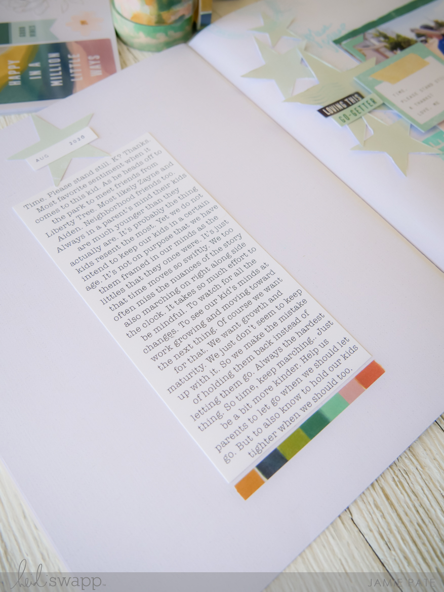 Heidi Swapp Care Free Collection | Sticker Prompt Inspired Scrapbook Page