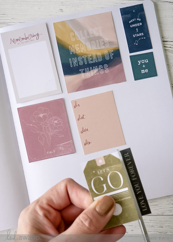 Heidi Swapp Care Free Collection   Great Idea for the 6x8 Paper Pad