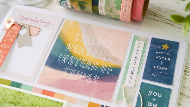 Heidi Swapp Care Free Collection | Great Idea for the 6x8 Paper Pad